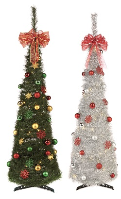pop up christmas tree uk - Pre Decorated Pop Up Christmas Trees